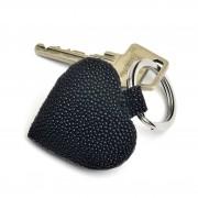 Sort keyhanger rokkeskind hjerte nøglering